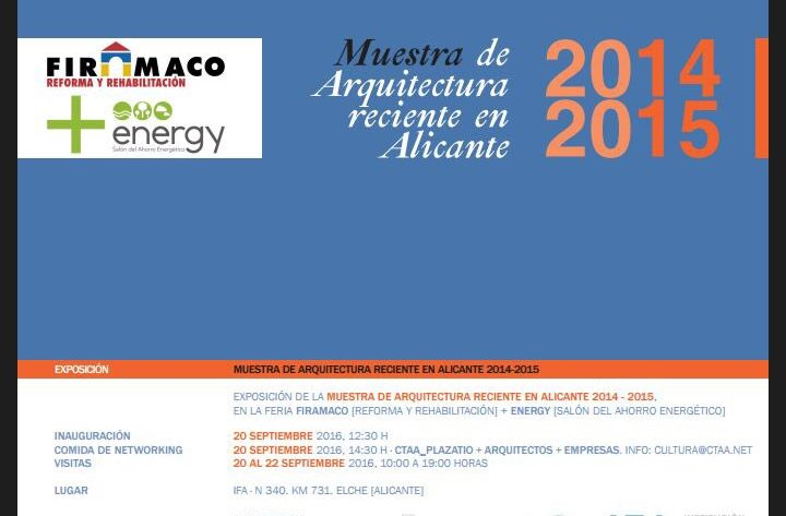 Invitación de la Muestra de Arquitectura