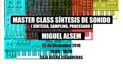 MasterClass SoundLab Miguel Alsem 22 diciembre Cigarreras